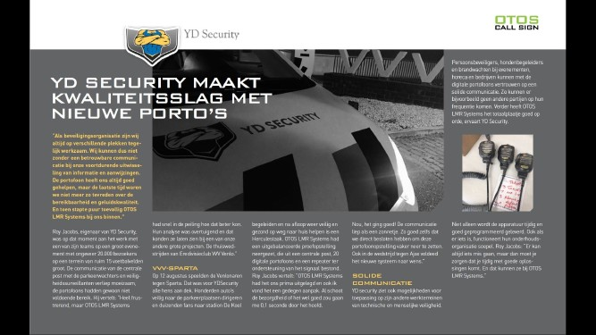 YD Security maakt kwaliteitsslag